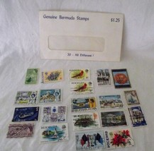Bermuda Postage Stamps Cancelled Used Batch Lot 20 Queen Elizabeth Brita... - $14.84