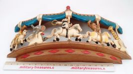 1979 Homco Universal Statuary Circus Animals Carousel Wall Hanging Brass Ring image 8