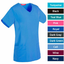 Women's V-Neck Scrub / Nursing Uniforms/ Medical Scrubs Top - $19.98