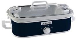 Crock-Pot SCCPCCM350-BL Casserole Crock Slow Cooker, 3.5 Qt, Midnight Blue - $68.31