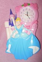 Disney Princess Cinderella And Castle Plastic Wall Clock - $24.99