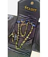 "Stauer Cayman Emerald Green 18"" Necklace 2"" Extender Bracelet Earring Se... - $79.59"