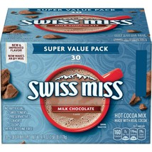 Swiss Miss Milk Chocolate Flavor Hot Cocoa Mix, (30) 1.38 Ounce Envelop (2 Pack) - $19.70