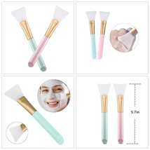 Silicone Face Mask Brush 2PCS Soft Tools Facial Mud Mask Applicator Make... - $7.14