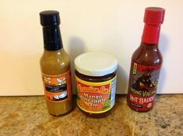 1 Hawaiian sun pineapple jam& 2 hawaiian hot sauce new BB07/21w/ Free sh... - $16.95