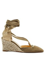 Christian Louboutin Noemia 70mm Suede Brown Wedges New - $729.00