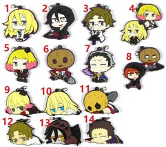 Anime Angels of Death Rubber Strap Keychain Key Ring Charm Zack Ray Rach... - $4.74+