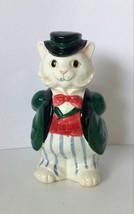 """Fitz & Floyd Vase Ceramic Kitty Cat Vase 1988 Vintage 6.5"""" - $22.51"""