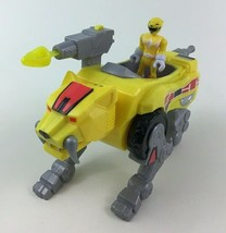 Imaginext Power Rangers Yellow Saber tooth Tiger Zord Dino Fisher Price ... - $37.57