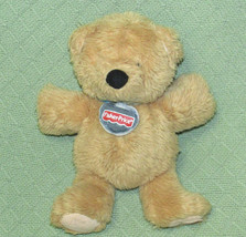 "Fisher Price 2003 TEDDY BEAR Plush Stuffed Tan Soft Cuddly 11"" Logo Tag ... - $23.36"