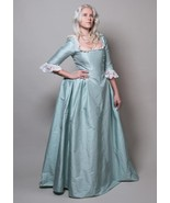 Eliza Schuyler Blue Colonial Dress Eliza Schuyler Cosplay Costume - $139.00