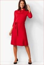 new TALBOTS women sweater dress belted CN4931 cotton blend red sz L $109 - $34.64
