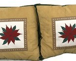 A Set Of 2 Christmas Brown Mistletoe Flower Decorative Pillows