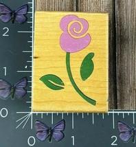 Rubber Stampede Whimsical Rose Rubber Stamp  A2232D Flower Wood #AH50 - $2.72