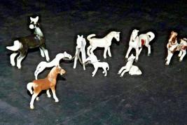 Miniature Horse Figurines (Group of 9) AA20-2451 Vintage