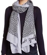 Kate Spade New York Scarf Spot Polka Dot Lady Blue NEW - $57.42