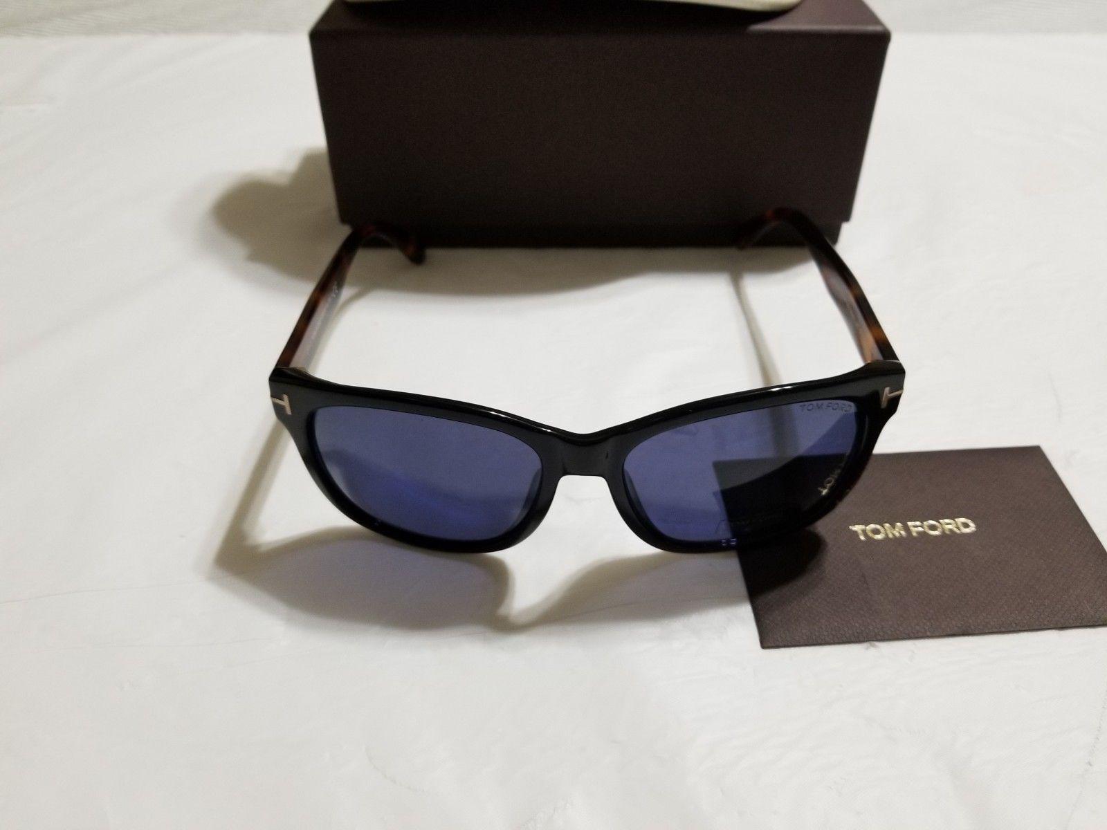 b829b2d36ab6 ... Tom Ford Men s Cooper Sunglasses FT0395 01V 57 Shiny Black   Havana ...