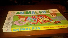Scarce 1968 Milton Bradley No. 4516 Animal Fun Teaching Game Complete VG... - $29.95