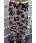 Disney Mickey&Minnie Hearts/Sweetheart Fleece Lounge Pants-Juniors Large... - £7.08 GBP