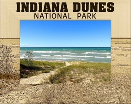 Indiana Dunes National Park Laser Engraved Wood Picture Frame (5 x 7) - $29.46
