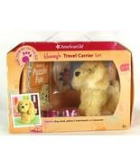 NIB American Girl Honeys Travel Carrier Set Puppy Glden Retriever Set Ac... - $48.50