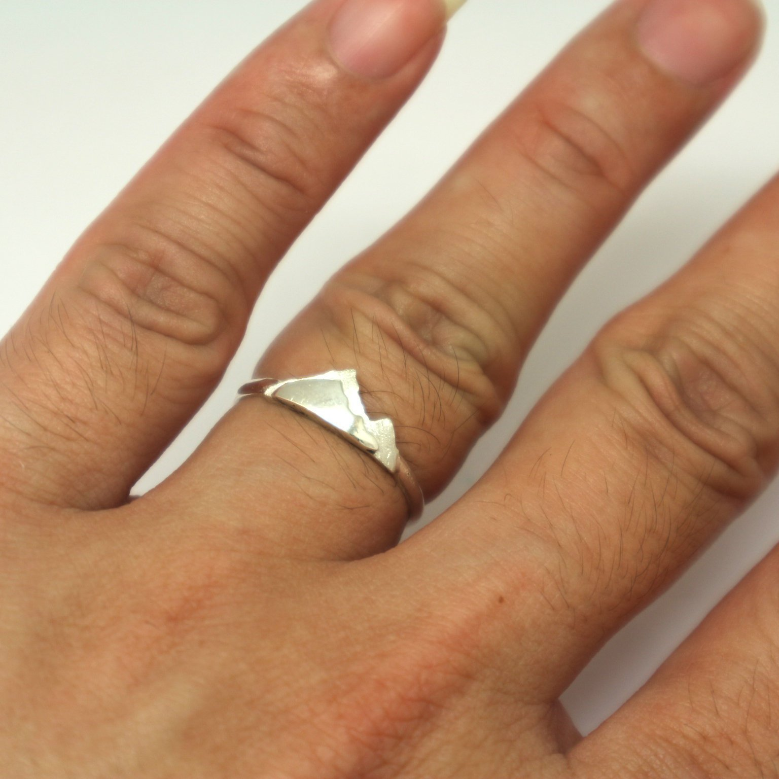 Silver Mountain Layered Ring image 6