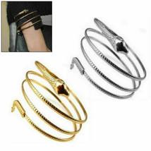 Egyptian Spiral Snake Wrap Upper Arm Cuff Armlet Armband Bangle Bracelet... - $14.95