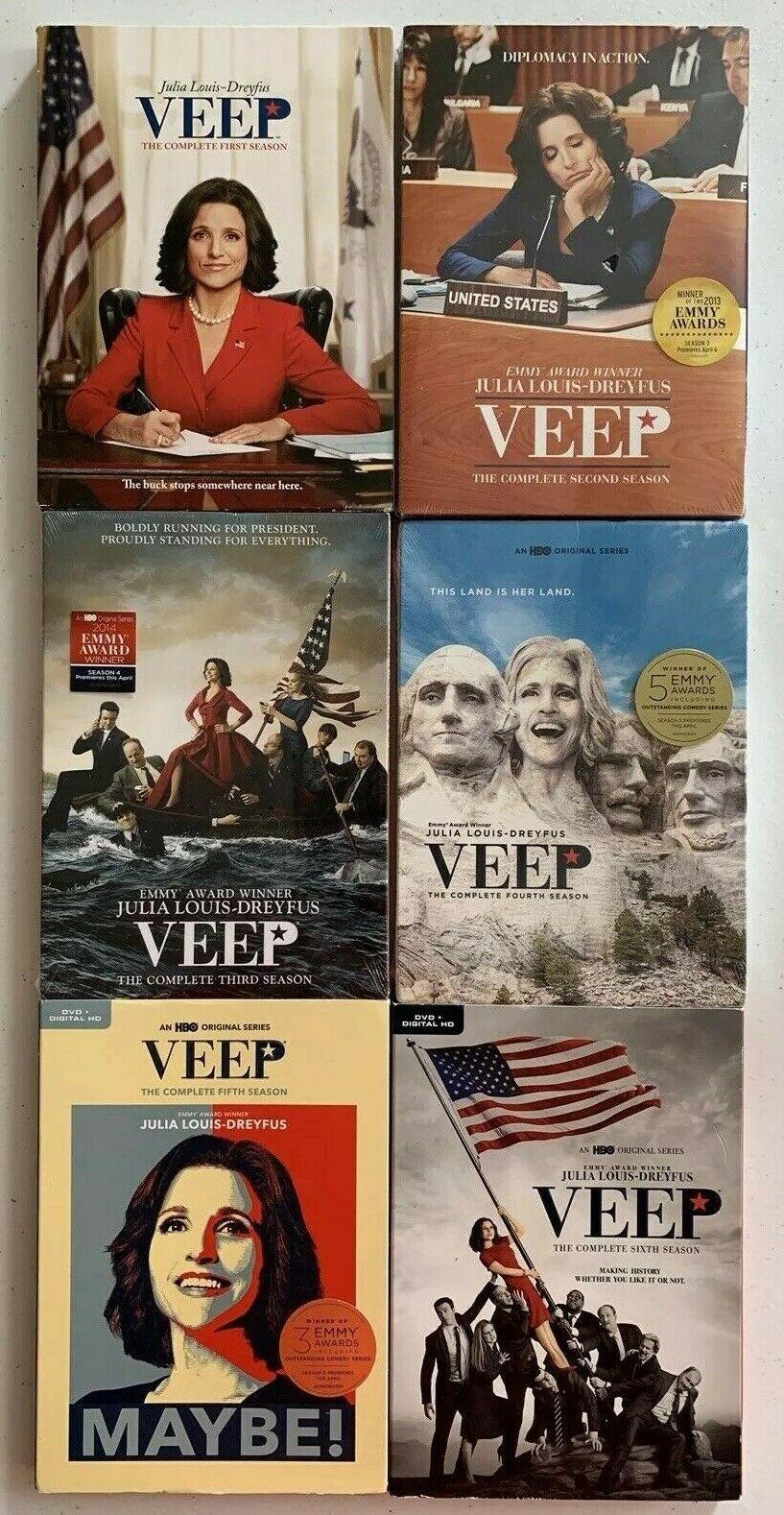 Veep The Complete Series Seasons 1-6 [DVD Sets New]  Julia Louis-Dreyfus