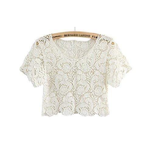 Beach Favourite Shawl Capelet All-match Short Shirt Blouse, WHITE