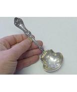 Art Nouveau LILY Flower Baker Manchester Sterling Silver Bon Bon Candy S... - $39.59