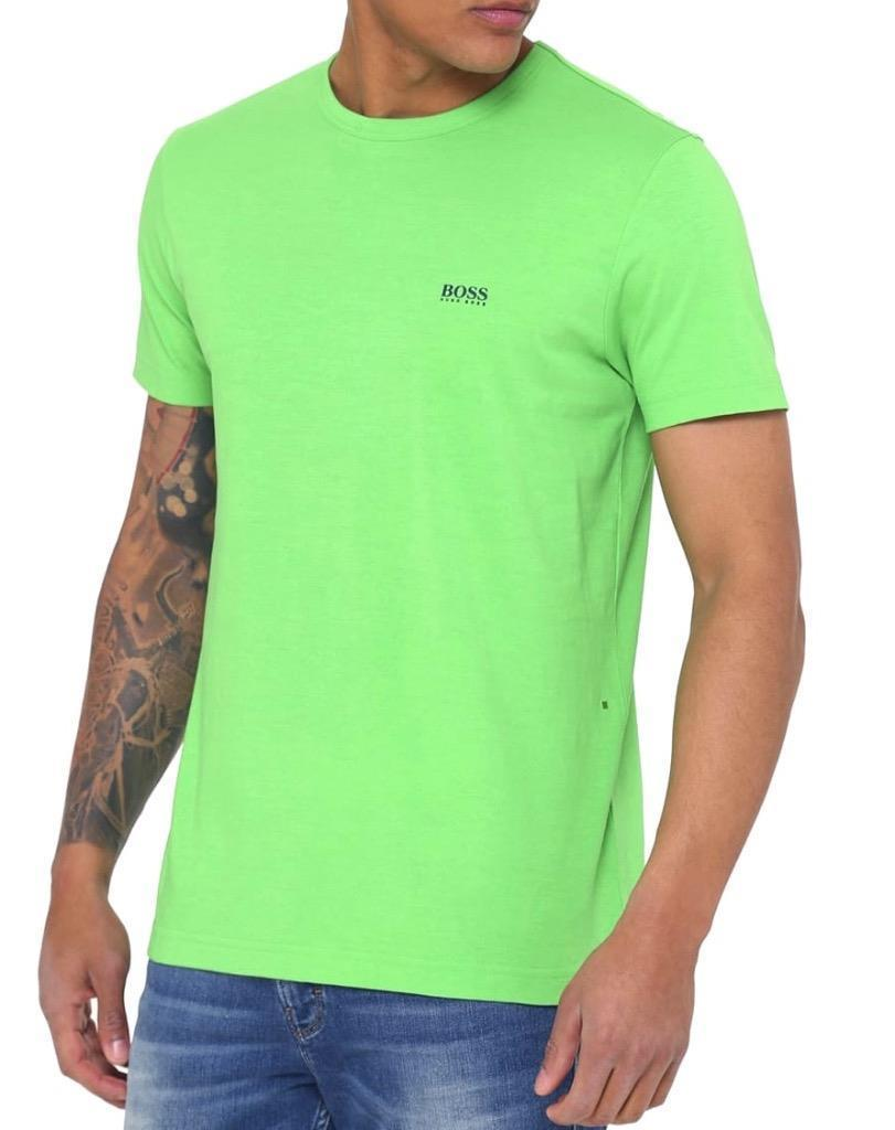 NEW HUGO BOSS MEN'S PREMIUM DESIGNER GRAPHIC COTTON SHIRT T-SHIRT GREEN 50245195