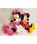 "Disney Minnie Mouse Pink Polka Dot Plush Soft Stuffed Toy Doll 24"" + dou... - $39.59"