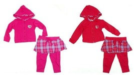 Infant Girl's Carter's Baby 2-piece Hoodie Hooded Jacket & Skirted Leggings NEW