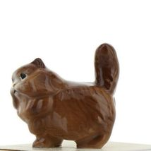 Hagen Renaker Miniature Cat Fat Brown Ceramic Figurine image 3