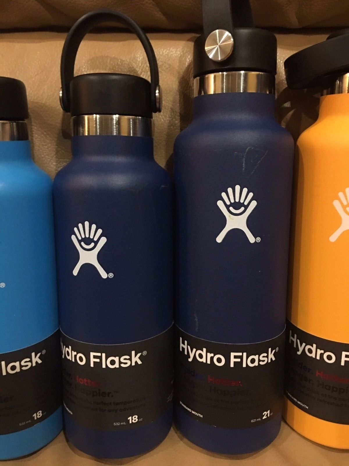 18oz or 21oz Hydro Flask Wide Mouth Red  blue yellow Cobalt Lime Green authentic image 4