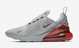 Nike Air Max 270 Wolf Grey University Red Ember Glow Grey Black White AH... - $144.99