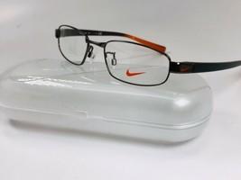 New NIKE 8092AF 200 Shiny Brown & Orange Eyeglasses 50mm with Nike Case - $69.25
