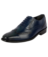 LibertyZeno Mens Handcrafted Brogue Wingtip Genuine Leather Laceup shoes... - $53.99
