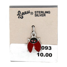 VINTAGE BEAU BEAUCRAFT STERLING SILVER NO -SPOTTED LADYBUG CHARM  - $9.50