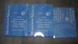 2010 Ford Explorer Mercury Mountaineer Sport Trac Service Shop Manual Set W - $188.04