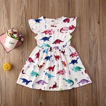 NEW Dinosaur Girls White Sleeveless Dress  2T 3T 4T 5T 6 - $10.99