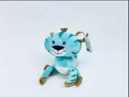 NEW Fisher Price Plush Tiger Tigre Animals of the Rainforest Blue Stuffe... - $14.84