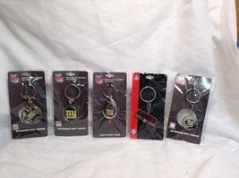 NEW NFL NY Giants Set of 5 Key Chains