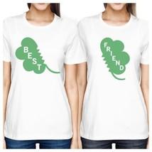 Best Friend Clover Womens White Cute Marching Shirt St Patricks Day - $30.99+