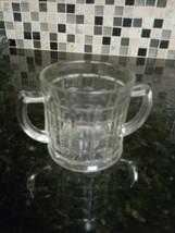 Hazel Atlas Depression Glass Clear Colonial Block Sugar Bowl  - $6.44