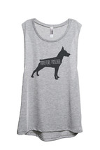Thread Tank Miniature Pinscher Dog Silhouette Women's Sleeveless Muscle Tank Top - $24.99+
