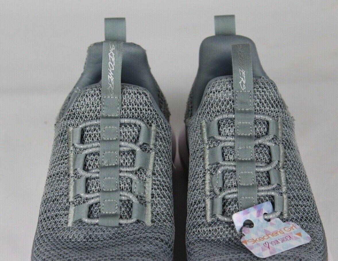 Skechers Jugend Mädchen Schuhe Sneaker Grau ohne Bügel Größe 10.5 image 7