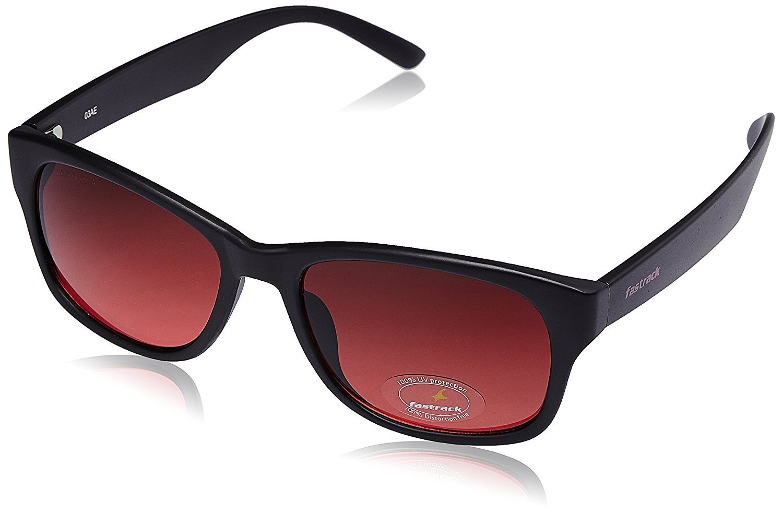 Fastrack Wayfarer Men's Sunglasses (PC001RD17 53 millimeters Maroon)
