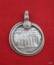vintage antique tribal old silver necklace amulet pendant hindu god goddess - $88.11