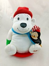Hallmark Polar Bear Animated Plush Sled Penguin Sings Rocks Stuffed Animal - $12.70